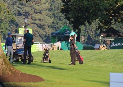 Getting ready at 1st Tee
