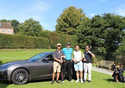 Hole in One kindly sponsored by Maserati - Martin Franks, Hary Dyason, Timothy Taylor & Mike Papageorge F